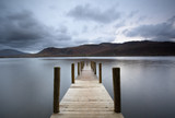 """Pier on lake, Derwentwater, Cumbria, United Kingdom"""