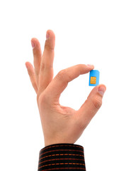 sim card in your hand