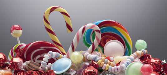 Variety of sweet candies