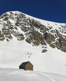 refuge en montagne poster