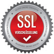 Button - SSL Verschlüsselung - rot
