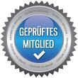 Button - Geprüftes Mitglied - blau