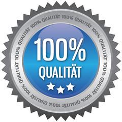 Button - 100% Qualität - blau