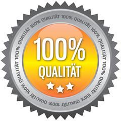 Button - 100% Qualität - gelb