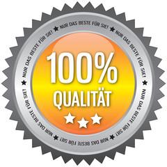 Button - 100% Qualität - Nur das beste für Sie - gelb
