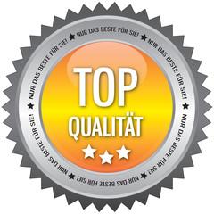 Button - Top Qualität - Nur das beste für Sie - gelb