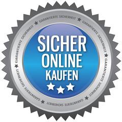 Button - Sicher Online Kaufen - blau
