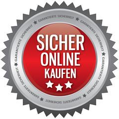 Button - Sicher Online Kaufen - rot