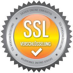 Button - SSL Verschlüsselung - gelb