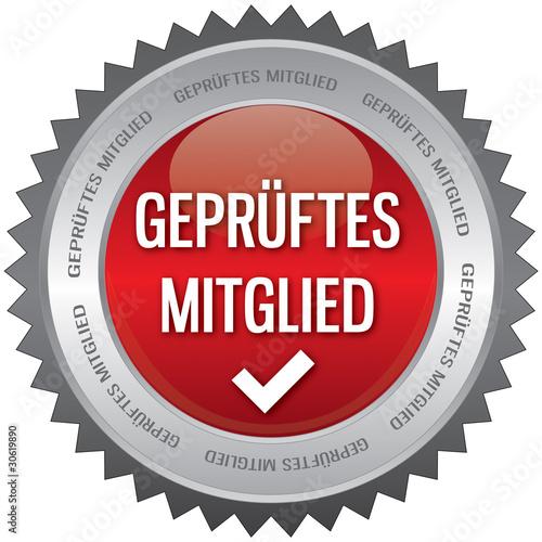 Button - Geprüftes Mitglied - rot