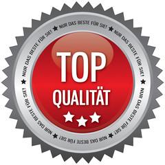 Button - Top Qualität - Nur das beste für Sie - rot