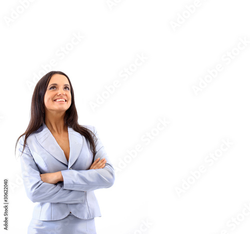 portrait of a pretty young business woman standing