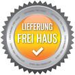 Button - Lieferung frei Haus - gelb