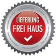 Button - Lieferung frei Haus - rot