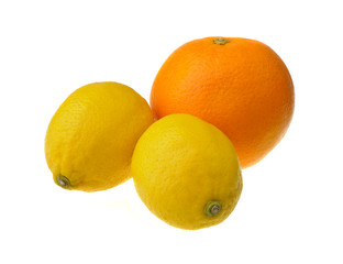 Two lemons and an orange