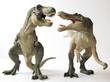 A Tyrannosaurus Rex Dinosaur Battles with a Spinosaurus