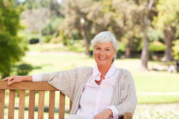 Senior woman on a bench