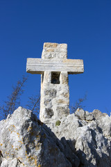Cross on the mountain (on Golgotha)