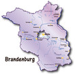 Brandenburg als Übersicht flieder