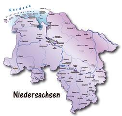 Niedersachsen Übersicht flieder