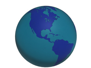 Blue World Globe - America