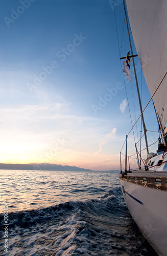 Wall mural Sailing boat in the sea