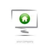 Logo enterprise, house # Vector poster