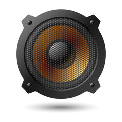 Speaker with grille