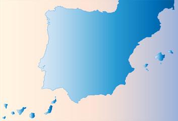 Mapa de España con las islas