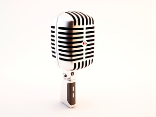 microfono professionale retro style render 3d