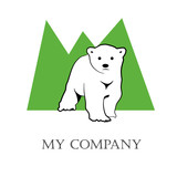 Logo Bear and  mountains # Vector