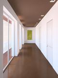 Fototapety Long modern corridor