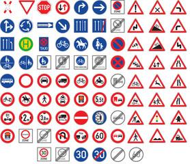 Verkehrszeichen & Gefahrzeichen Set