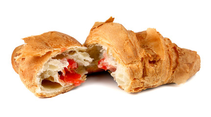 croissant with the strawberry filling