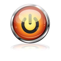 Boton futurista simbolo power