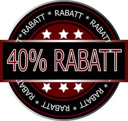 40% Rabatt