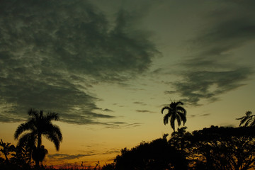 sunset in the tropics. Santa Marta. Colombia