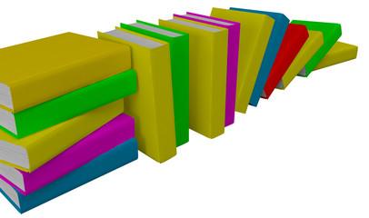 Libri isolati su sfondo bianco