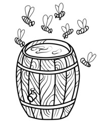 Bees and honey (contour)