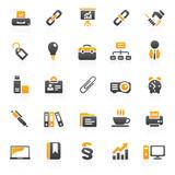 Fototapety orange business icons - set 3