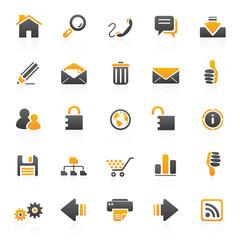 orange web internet icons - 1