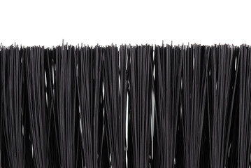 black bristle brush on a white