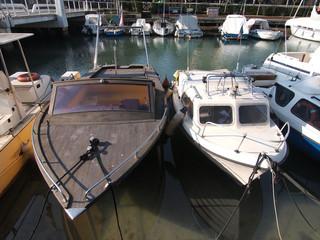 Le barche nella rimessa