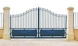 Portail métallique bleu - 30656493