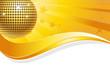 Discokugel gelbgold mit Welle