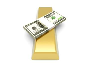 Gold und Dollar