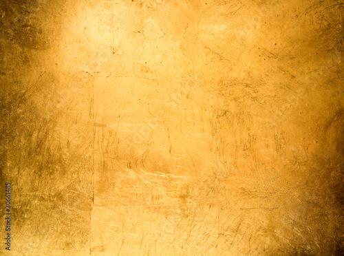 Foto op Plexiglas Metal flat background, gilded gold leaf