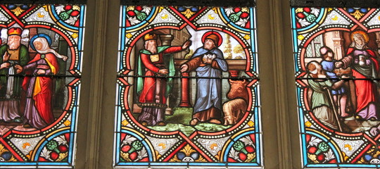 Paris - Eglise : Vitrail