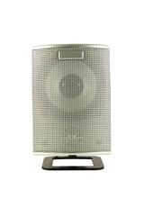 Silver grid speaker.