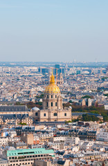 Les invalides - Aerial view of Paris.